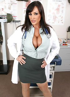 sex images Sultry big titted doctor Lisa Ann, big tits , brunette